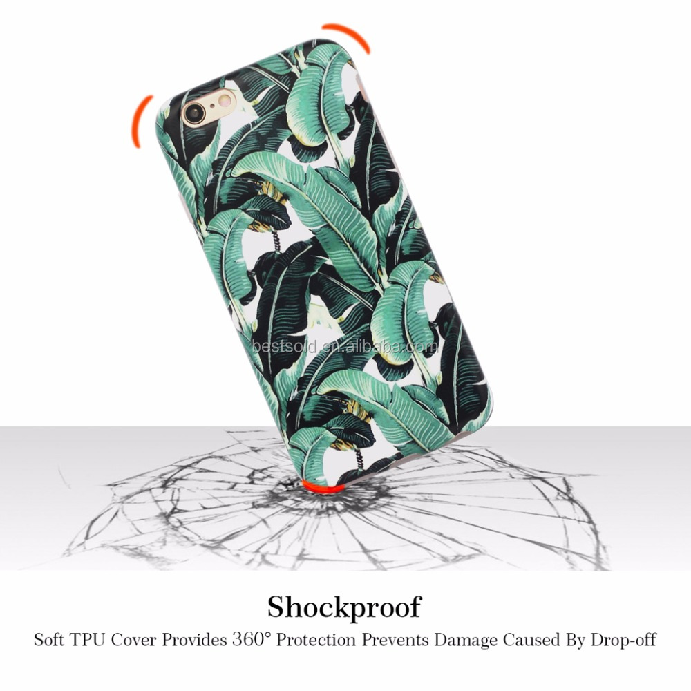 360 degree full raised edge phone case for iphone 6s ,fancy phone cases flower tpu phone case for iphone 6