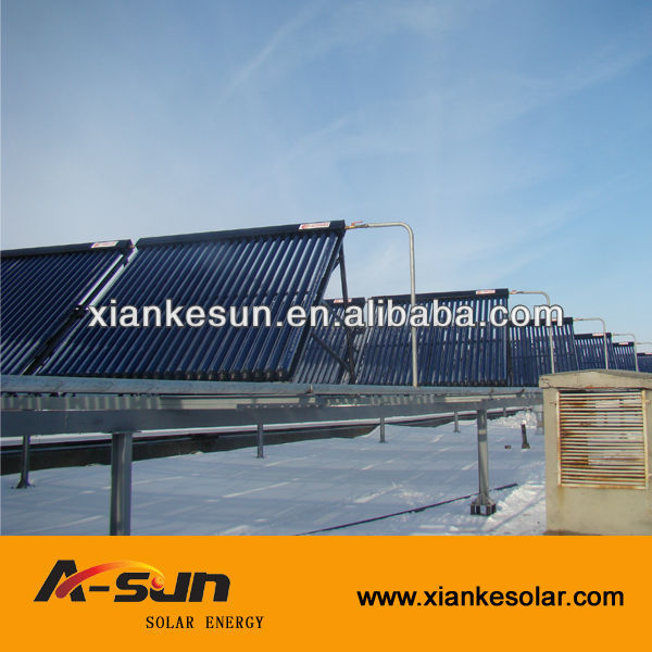 all glass evacuated heat pipe solar collector/solar concentrator
