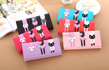 Korean cute cartoon wallet, cat's design, colorful wallet