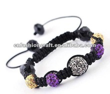 2012 New Coming crystal ball shamball bracelets