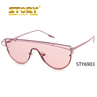 STORY New arrived fashion siamesed frame mold design wholesale sunglasses and free shipping