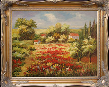High Skills Artist Pure Hand-painted Beautiful Landscape Tuscany Oil Painting on Canvas Impression Landscape Oil Painting