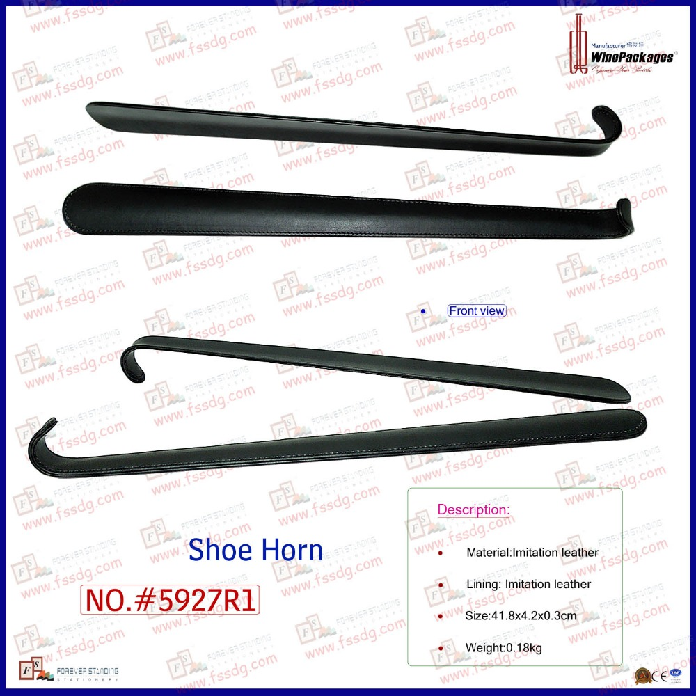 custom leather long handled shoe horn sale