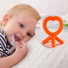 BPA free soft baby toy silicone baby teether