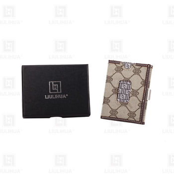 new style front-pocket wallet leather triple folding wallet