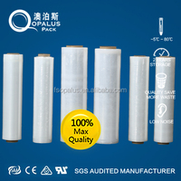 Clear industrial plastic packing pe stretch film jumbo roll