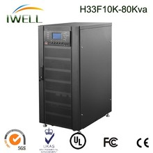 bank and security power guaranteed high frequency 3phase 60kva/54kw UPS power