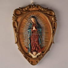 polyresin Mexico virgin wall hanging art