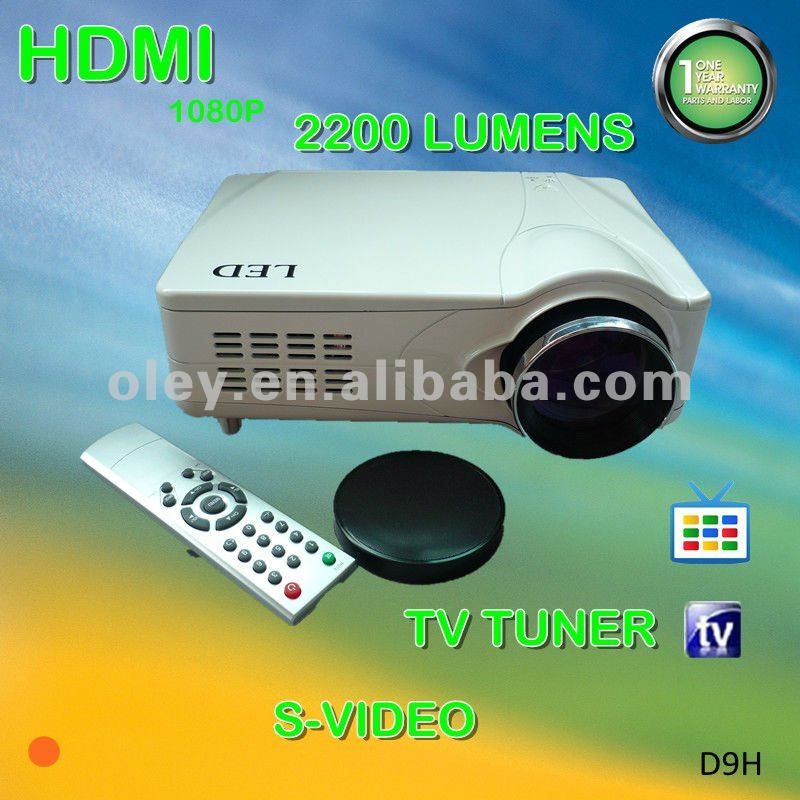 Promotion low cost 1080p led projector with tv tuner