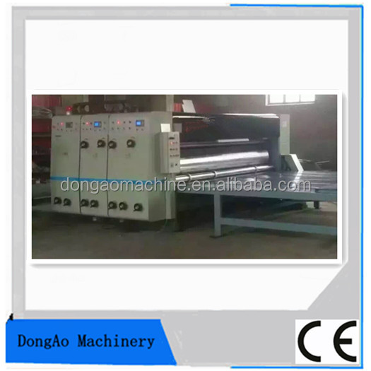 Corrugated cardboard four color printing press and cutting angle machine made all kinds of carton machinery