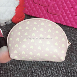 hotsale mini heart print elegent lady cosmetic bag