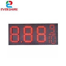 "outdoor waterproof 8'',10"",12'',16'',18'',20'',24'',30'' 48'' petrol station Gas\Oil LED Price Sign Board led display price"