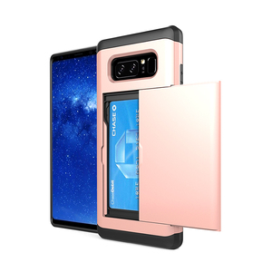 Note 8 Card Slot Phone Case,Dual Layers Protective For Samsung Galaxy Note 8 Cell Phone Case