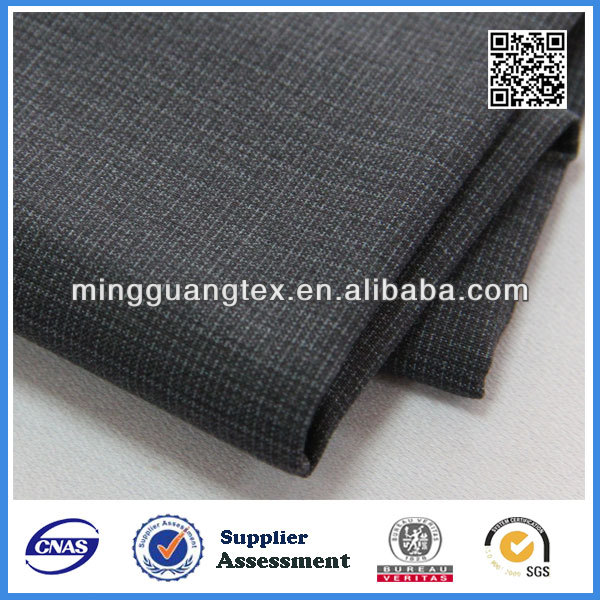 2015 new design polyester viscose woven peruvian fabric for suiting and pants