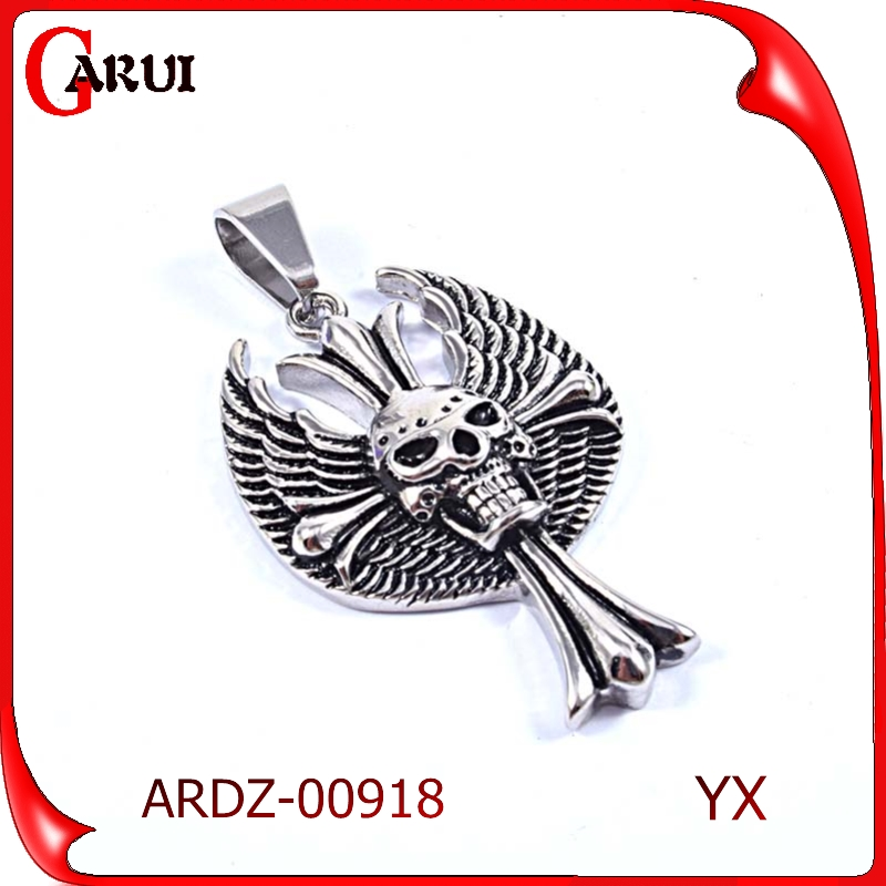most popular products costume jewellry wholesale skull design cross pendant