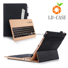 Leather Case Cover with Bluetooth Wireless Keyboard with tablet cover case
