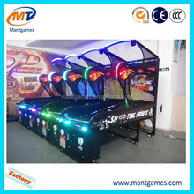 High quality metal cabinet and hoops shooting basketball game machine