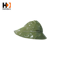 Best Selling Good Quality Custom Folding Kids Plastic Rain Hat