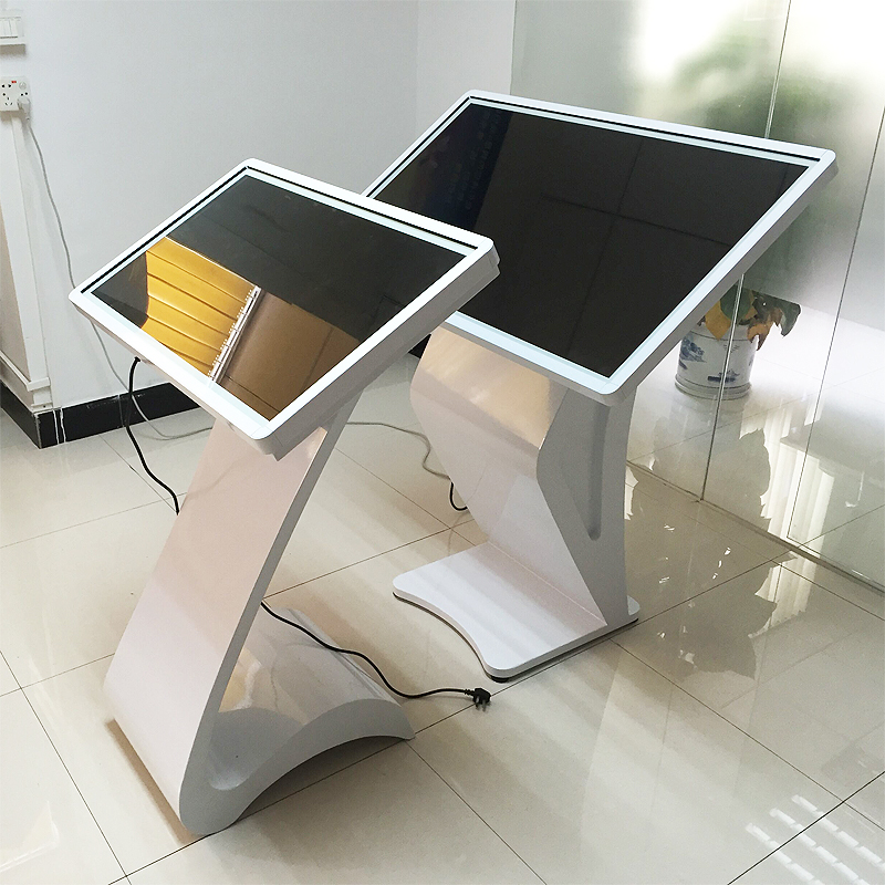 "32"" LCD interactive multi touch screen kiosk for lobby"