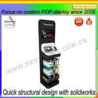 advertising cell phone display holder black retail phone accessory display stand