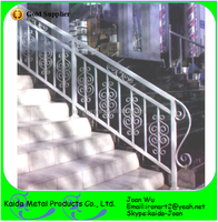 Morden Exterior Wrought Iron Stairs Handrails Design