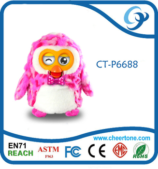 Hot selling education plush toys, hibou toys