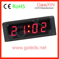 4digits car vision led clock show date and temperature