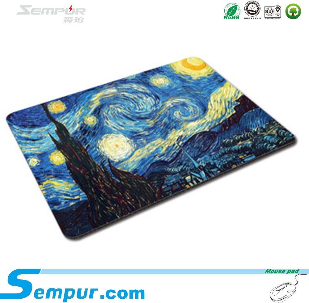 Custom Printed Rubber Cheap Boob Promotion Advertising Mouse Pad Sempur 2016
