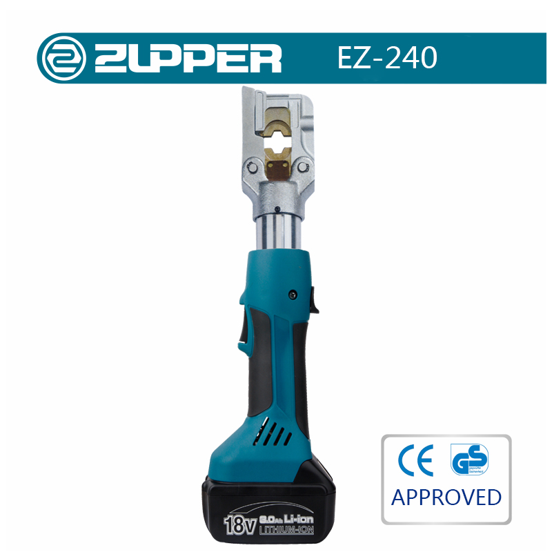 ZUPPER EZ-240 battery powered hydraulic cable terminal crimper crimping tool