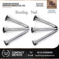 China supply copper coil roofing nails rubber screw roofing nails