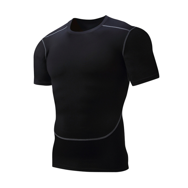 Men Sport Wear For Dri Fit Slim Tit Short Sleeve Sportwear Men's Clothing