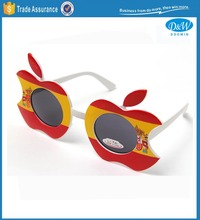 Novelty Apple Shape Spanish Color Party Sunglasses with Lens