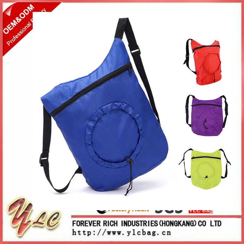 Shopping Bag Drawstring Backpack Travel Lady Satchel Folding Tote Purse Factory Whlesale
