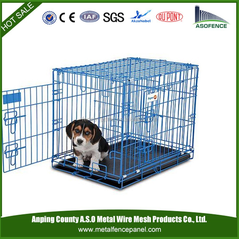 China wholesale foldable stainless steel dog cage / foldaway dog cage