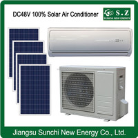 Off grid DC48V wall split African using solar home air conditioner R410A refrigeration