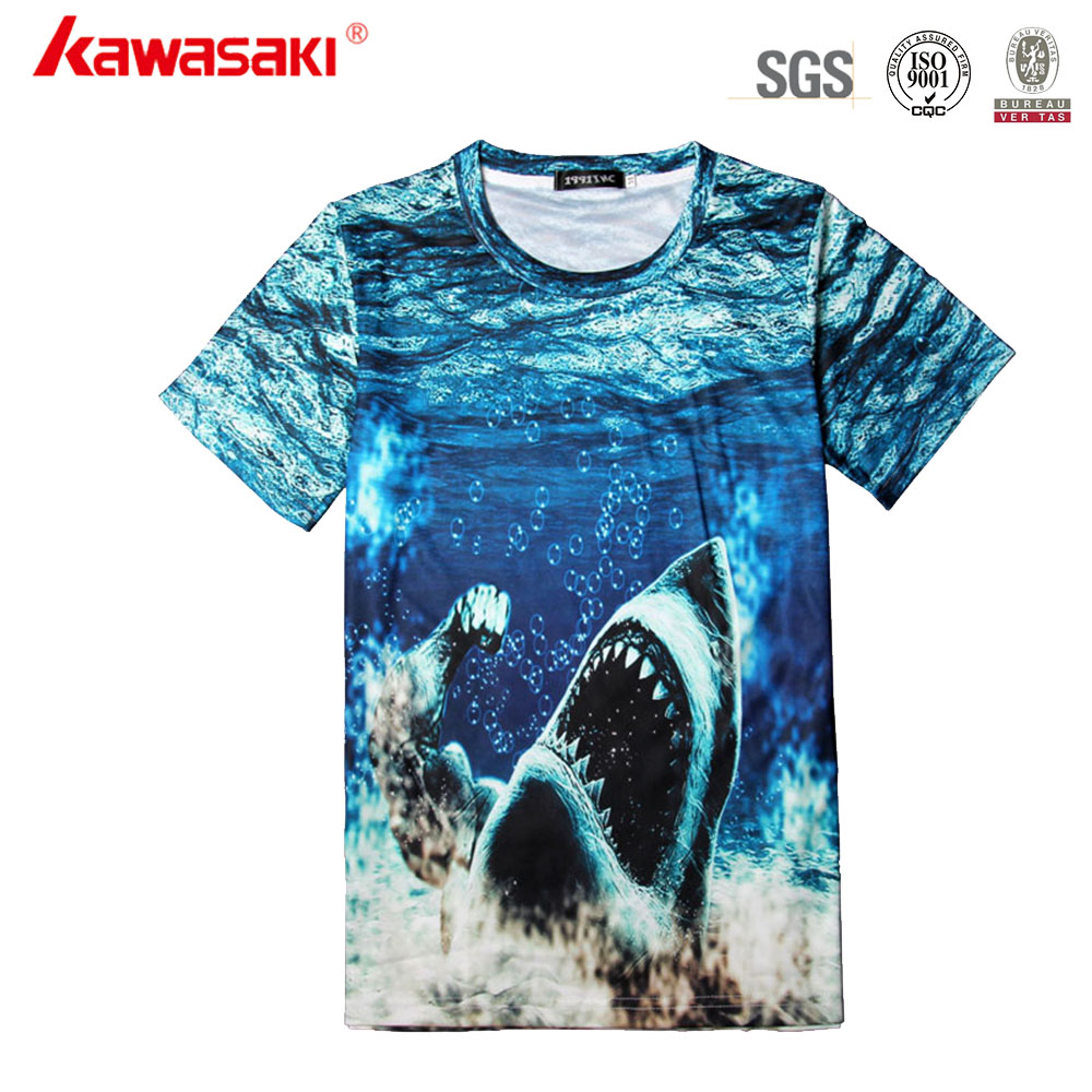 Wholesale customize dry fit all over printing sublimation t-shirt