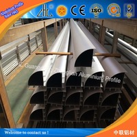 ZHL color anodizing line aluminium profiles polishing / aluminium extrusions triangular / triangle aluminum extrusion profile