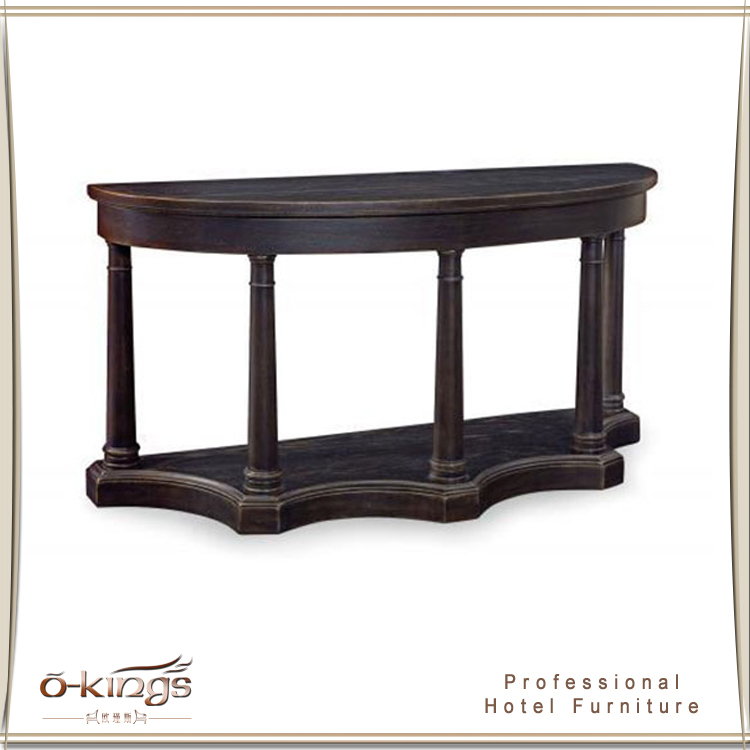 Half Moon Lobby Wooden Console Table