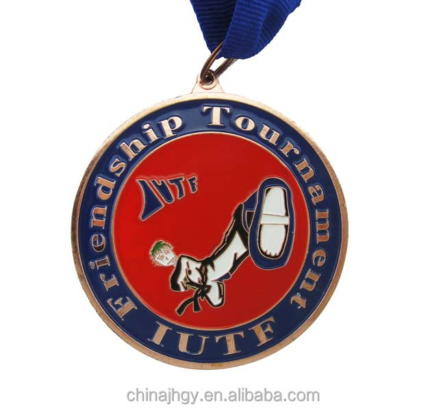 Custom Taekwondo Judo sports gold award metal medals