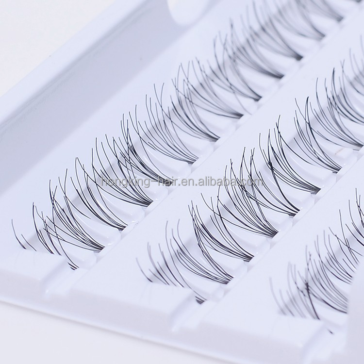 8-14mm hand made knot free individual flare eyelash for reseller