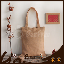 High Quality Fashionable Promotional Tote Eco-friendly Shopping Customized Natural Jute Bag