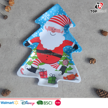 Hot selling melamine Christmas tree shape tray
