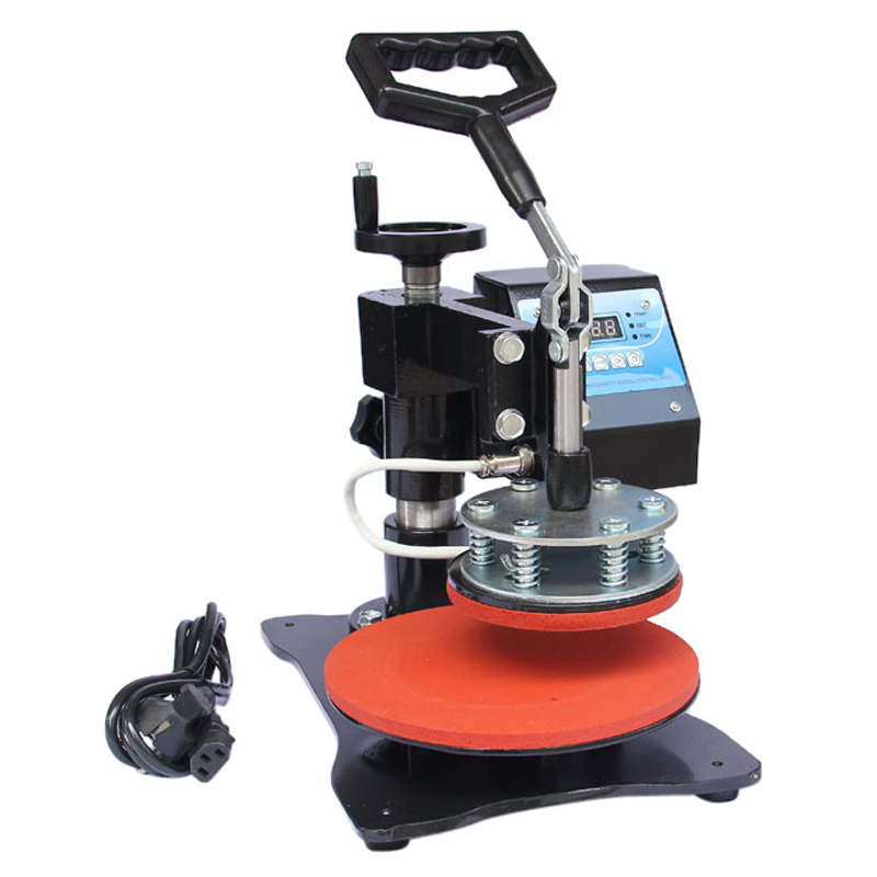 Plates Sublimation Transfer Heat Press Machine Digital Swing Away Heat Press Machine for 8 Inch Plate 11cm Diameter