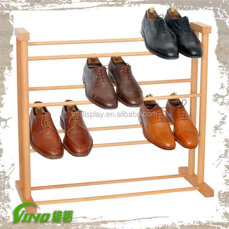 Customized Nike Shoes Display Rack , Handmade Pallet Shoe Rack , Hot Sale Commercial wooden Shoe Holder