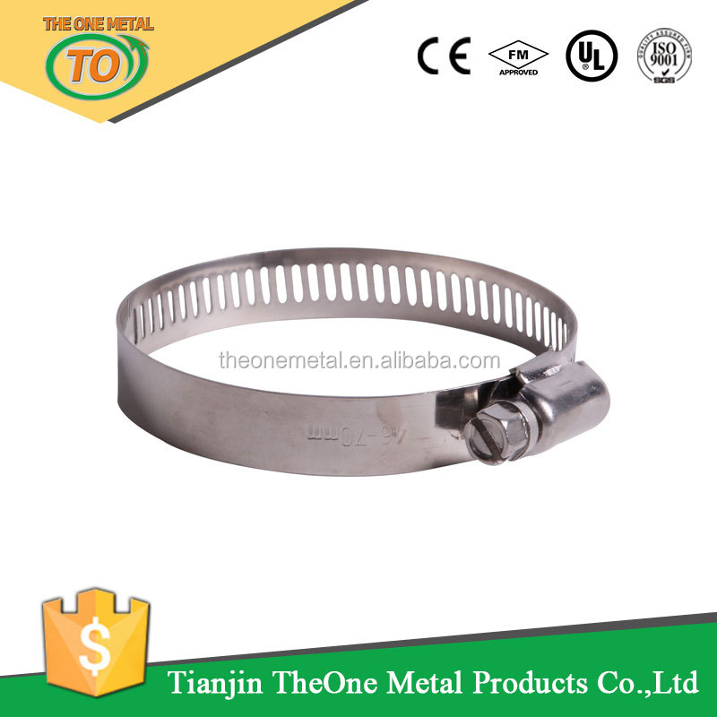 12.7mm stainless steel European type hose clamp