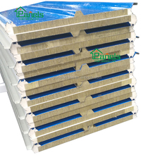 heat resistance Insulated Grade-A fireproof PU sealed rockwool sandwich panel bahrain