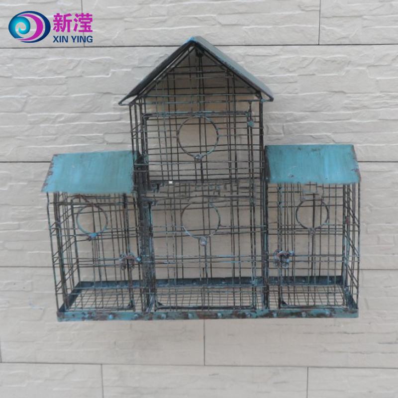 Manufacturer Handicraft Garden Decor Bird Cage Wrought Iron Small