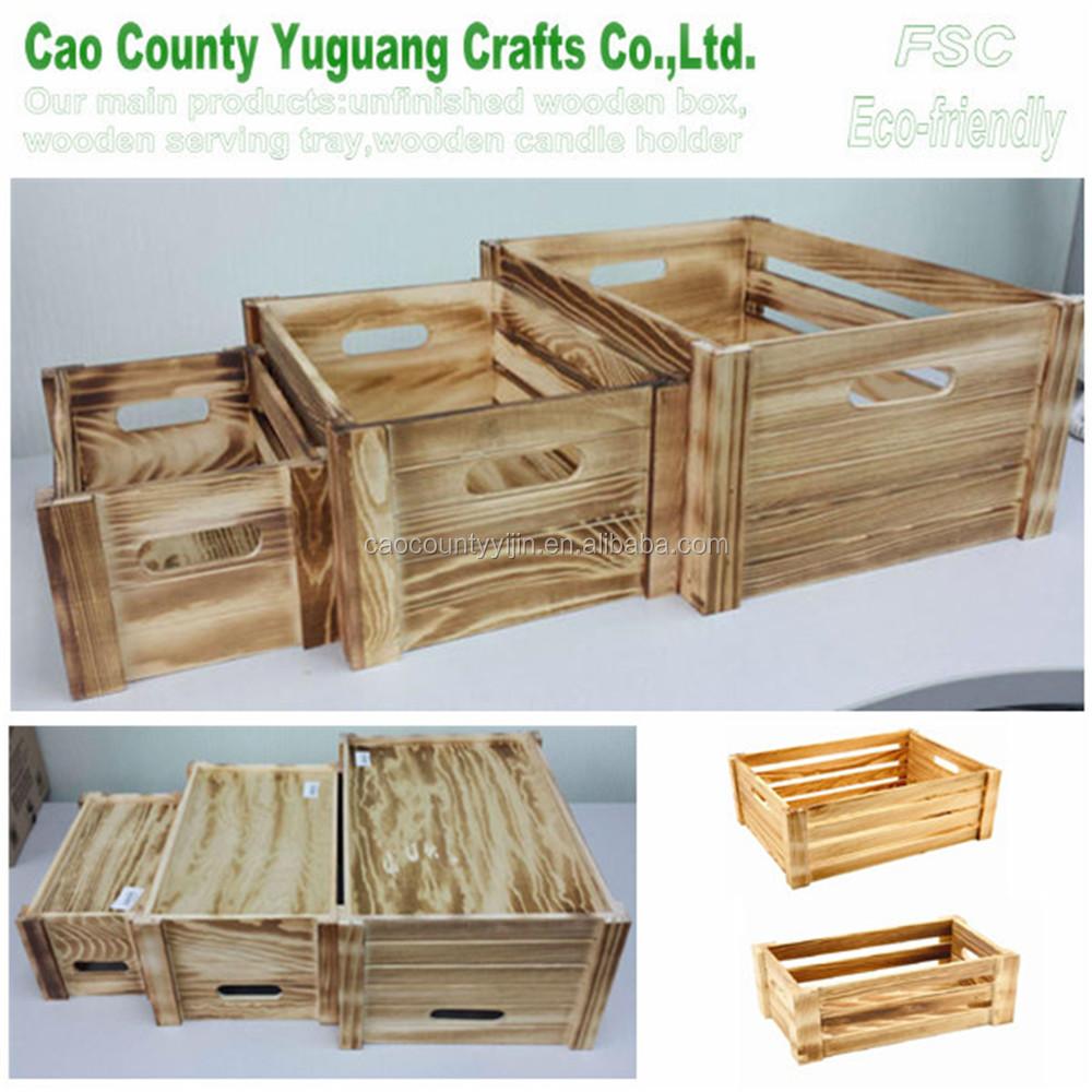 Fsc wooden vegetable crate antique wooden fruit crates for Buy wooden fruit crates