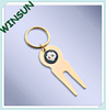 Panda golf ball marker fork key chain