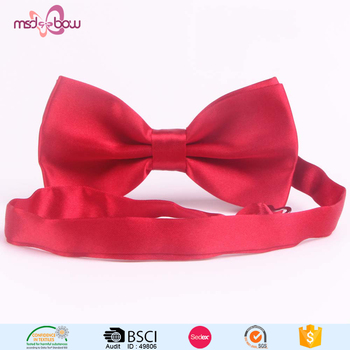 Wholesale polyester self tie bow ties satin ribbon bowtie for men